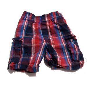 Other - blue red plaid shorts size 4t blue red
